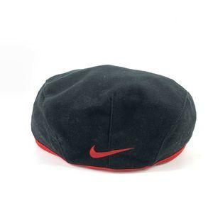 Vtg Nike Golf Center Swoosh Flat Cap Newsboy Hat